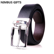 Hot saleing Men Genuine leather brand TWO sided BELT Luxury Belts for men rotate Buckle Casual Dress men belts cintos masculino