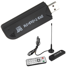 by DHL or EMS 20 pieces USB2.0 DAB FM DVB-T2 dvb-t SDR RTL-SDR Dongle Stick Digital TV Tuner Receiver IR Remote(China)