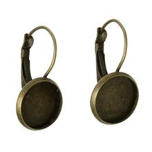 "DoreenBeads Copper Earring Clip Findings Round Antique Bronze Cabochon Settings (Fit 12mm ) 26mm(1"") x 14mm( 4/8""), 30 PCs"