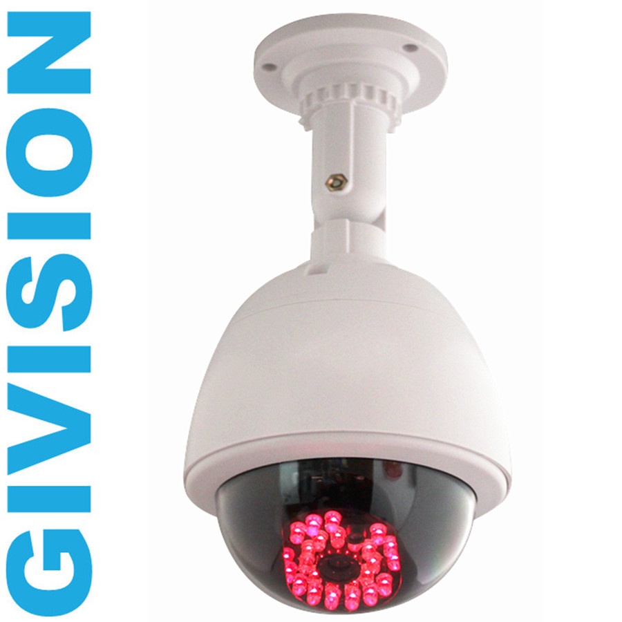 CCTV ptz Fake Security Camera Dummy Outdoor camera Dome with Red LED infrared fake surveillance cameras<br><br>Aliexpress
