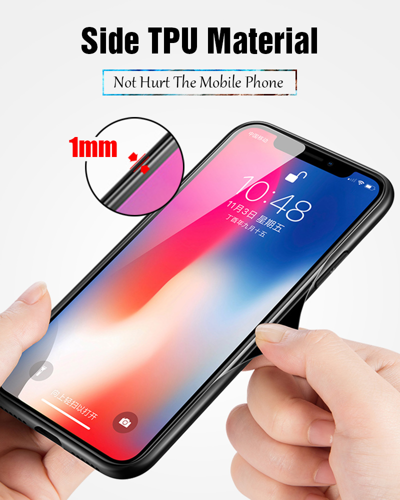 TOMKAS Luxury Marble Phone Case for iPhone X 10 Tempered Glass PC Agate Back Cover Silicone Soft Edge Coque Case for iPhone X (20)
