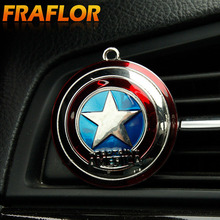 10pcs/lot The Avengers Iron Man Captain America Spiderman  Car Outlet Perfume Auto Air Freshener Car Air Conditioning Vent Clip