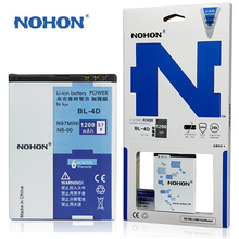 Original NOHON Mobile Phone Battery BL-4D For Nokia N97 MINI N8 E7 803 E5 N803 702T E6 N5 210 T7-00 Batteria BL4D BL 4D 1200mAh