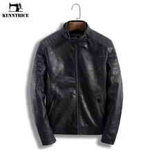 KENNTRICE Leather Jacket Pilot Mens Leather Jackets Male Faux Leather Coat Men Vintage Autumn Winter Moto PU Leather Jacket Man(China)