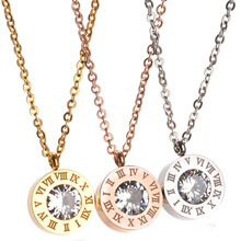 New Famous Brand Jewelry Gold-Color CZ Stone Necklace Stainless Steel Interchangeable Necklace Party Gift