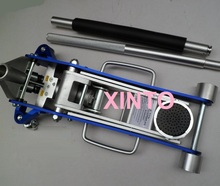 2Ton with 2-pump car sedan Aluminum racing lifting jack, aluminum alloy steel hydraulic wheel stand jack with 2 pumps