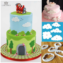 LIMITOOLSFondant cutter 5pcs cloud plastic cake/cookie/buscuit cutter mold fondant mold fondant cake decorating tools sugarcraft