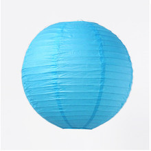 "6pcs 12""(30cm)Sky Blue Paper Chinese Lantern For Wedding Scene Wedding Room Showcase Decoration Mall Activities DIY"