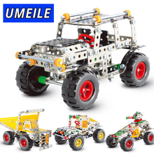 UMEILE Brand 3D Metal Puzzle Off-road Vehicle Car Assemble Screw Toys Build Play Model(China)