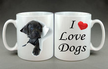 Pet I Love Dogs mug Tea beer home decal magic birthday gifts ceramic magic porcelain Lover Gift(China)