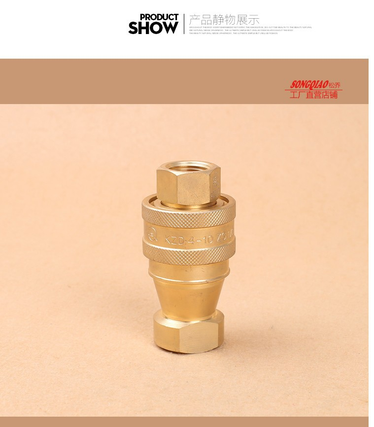 Double Shuttoff Couplers ISO B 1/2 Thread Quick Release Connector KZD, come with Paires Male and Female<br><br>Aliexpress