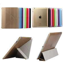 TLP-BX High Quality Tablet Utrathin 4 Shapes Stand Design PU Leather Case for ipad 4 3 2 Smart Cover for iPad4 ipad3 ipad2(China)
