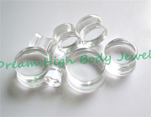 Transparent Ear Plugs Clear Flesh Tunnel Ear Expander Ear Piercing Rings Hot Sale Acrylic Popular Body Piercing(China)