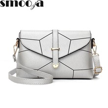 SMOOZA 2017 Fashion Ladies Messenger Bags Mini Handbag Female Envelope Bag lines Shoulder Bags Flap Hand for Women Crossbody Bag(China)