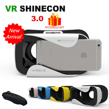 Casque VR Shinecon 3.0 Box 3 D 3D Virtual Reality Glasses Google Cardboard Goggles Headset Helmet For Smartphone Smart Phone Len(China)