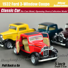 1:36 Scale Diecast Alloy Metal Classic Car Model For 1932 Ford Three-Window Coupe Collectible Model Collection Toys Car