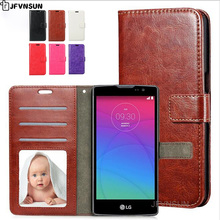 JFVNSUN Phone Case for LG Spirit 4G LTE Retro Magnetic Wallet Card Holder Leather Phone Bag Flip Cover for LG Spirit H440 H422(China)
