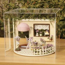 Handmade Toy Dream Music House Model Kit Assemble Miniature Dollhouse DIY Doll House Room Box Home Girl Favorite Gift Decoration