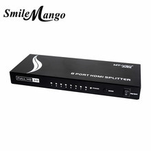 Upgraded MT-VIKI 8 Port HDMI Splitter Distributor Video Sharing 1 Input to 8 Output Multiple LCD Monitor Synch Display MT-SP108m(China)