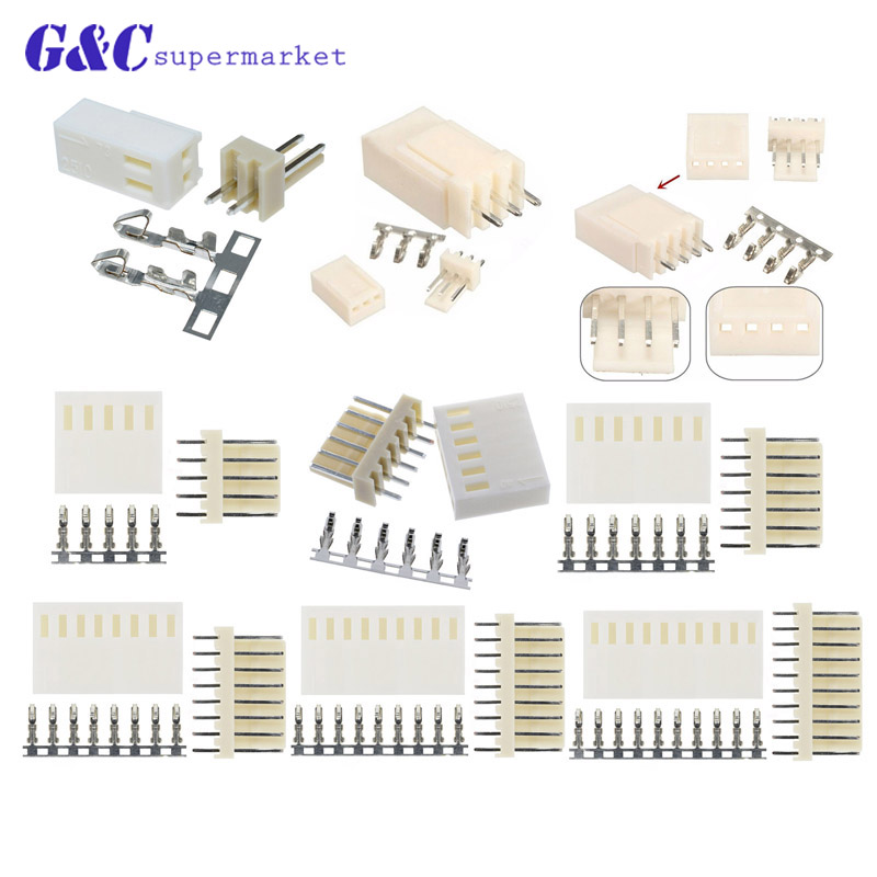 Terminal KF2510-2P 2.54mm Pin Header Housing Connector Kits 100PCS