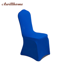 Awillhome Wedding Chair Cover Home Decor Party Event Banquet Chair Cover White Black Purple Royal Blue Gold Ivory 1 PC(China)
