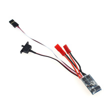 F05427 RC Car 10A Brushed ESC Two Way Motor Speed Controller No Brake for 1/16 1/18 1/24 RC Car Boat Tank(China)