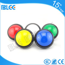 wholesale 100mm diameter round shaped casino game dancing  machine convex surface push button micro switch