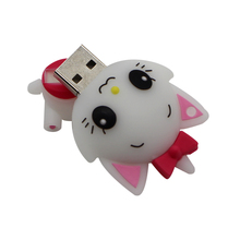Free Shipping Cartoon Marie Cat USB Flash Drive 8GB 16GB 32GB USB2.0 Flash Memory Stick Pen Drive Disk for Laptop Computer(China)