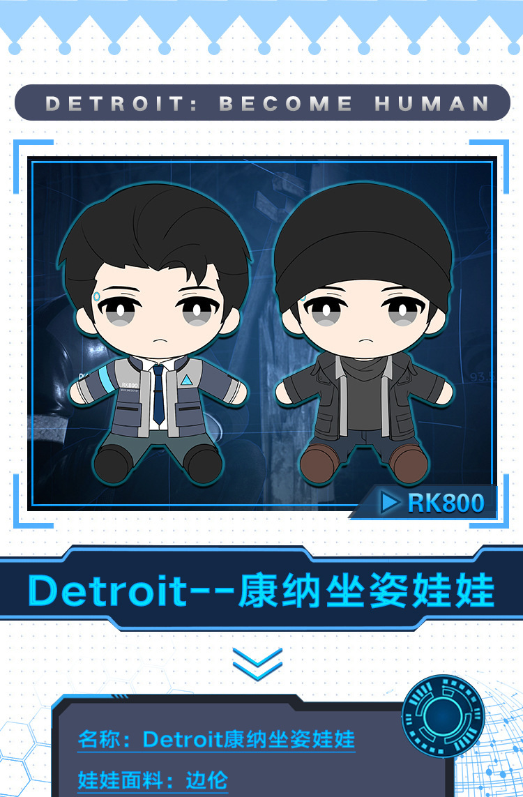 Detroit become human Connor uniform RK 800 (7)
