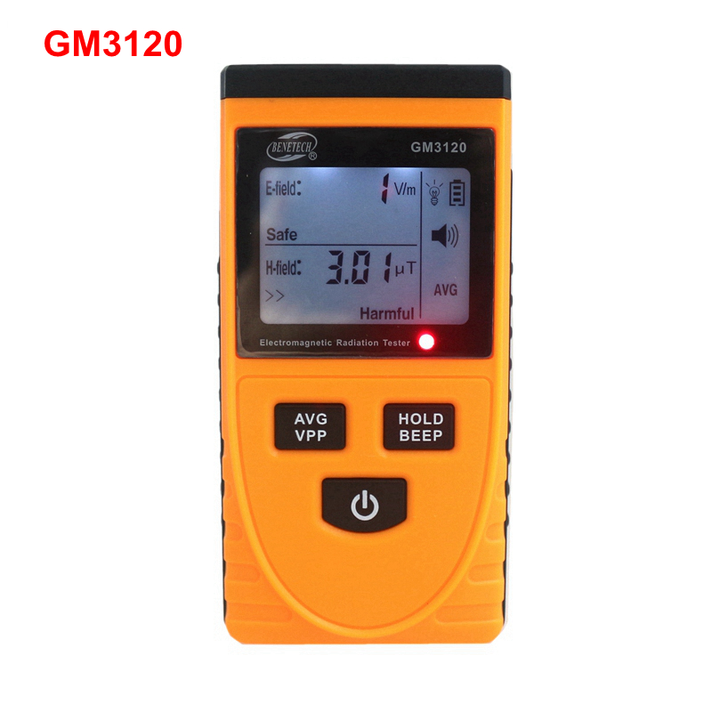 GM3120 Digital LCD Electromagnetic Radiation Monitor Gauge Appliances Phone Computer Radiation Tester with Backlight<br><br>Aliexpress