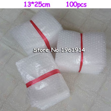 13*25cm 100Pcs White Bubble Bags Packing Material  Board Insulation Packing Wrap Verpakking Espuma