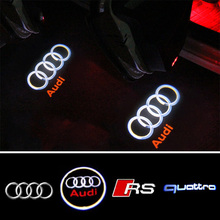 Wireless Car Door Ghost Shadow Welcome Light Auto Emblem LED Laser Logo Projector Light For Audi A5 S5 Quattro Sline RS RS5 TT