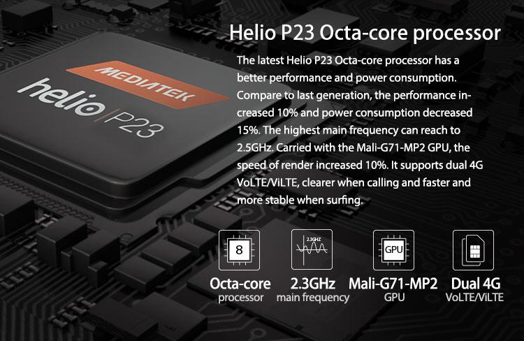 VERNEE V2 PRO 6GB RAM 64GB Helio P23 MTK6763 2.0GHz Octa Core 5.99 Inch IPS Corning Gorilla Glass FHD+ Full Screen Quad Camera IP68 Waterproof Android 8.1 4G LTE Smartphone