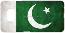 Printed Pakistan Flag Cell Phone Cover For Samsung Galaxy Core G350 S5830 S2 S3 S4 S5 Mini S6 S7 Edge Plus Note 2 3 4 5 Case