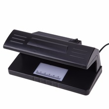 UV Light Practical Counterfeit Money Detector Checker Bill Currency Fake Tester Detector with ON/OFF Switch EU Plug