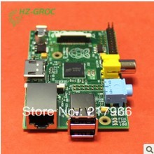 3 IN 1 Rev 2.0 512 ARM Raspberry Pi Project Board Model B + 3 heat sinks + 1 board case All  Free Shipping