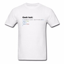 T Shirt Discount 100 % Cotton For Man T-shirts Great Quality Funny Man Cotton Ultimate Geek Test Men's Tee Shirt(China)