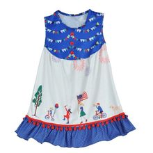 Conice Baby Girls Lovely Dress Character Pattern Sleeveless Kids Clothing Boutique Remake Spring Summer Children Frocks DX034
