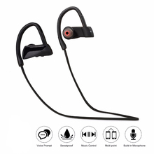 Unique neck-strap U12 Wireless Headphone Bluetooth V4.1 Sport Stereo Ear Hooks Headset Portable Neckband Sweat-Proof with Mic fo(China)