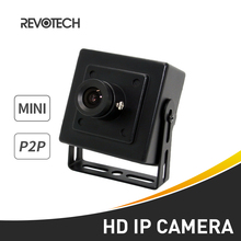 Mini HD 720P / 1080P IP Camera 1.0MP / 2.0MP Security Metal Indoor Camera ONVIF P2P IP CCTV Black Cam(China)