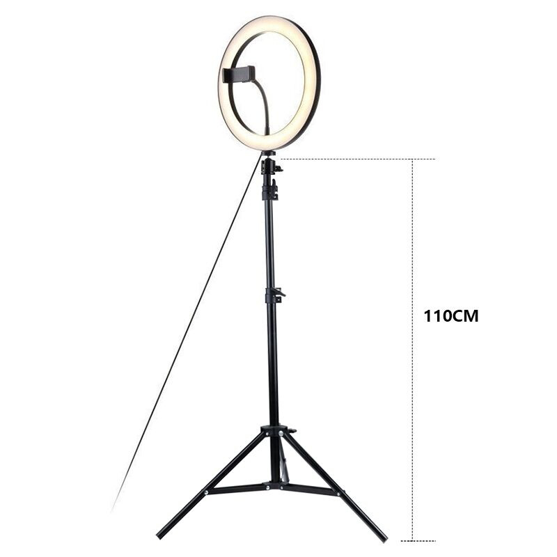 Dimmble Fill Ring LED Light With Phone Holder Tripod Portable Light For Fashion Live Streaming Selfie