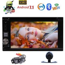 Octa-core 6.2'' Double din Car DVD Player Android 7.1 GPS Car Stereo Automotive Multimedia Bluetooth Radio USB+Wireless Camera(China)