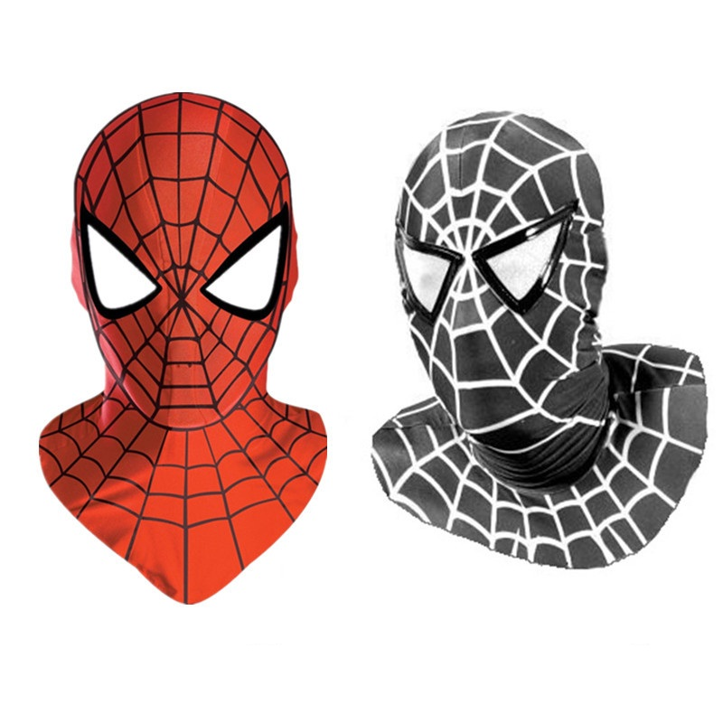 Childrens/Adult Halloween Mens Spiderman Masks Cosplay Costume Red/Black Zentai Lycra Spandex Party Supplies Hats Headgear Mask(China (Mainland))