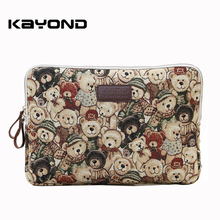 Kayond Lovely Baby Bear Pattern Laptop Case Bag Sleeve Cover for MacBook Air Pro iPad 8 11 12 13 14 15 inch Free Drop Shipping(China)