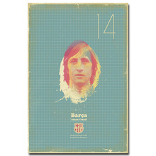 NICOLESHENTING JOHAN CRUYFF Classic Football Soccer Star Art Silk Poster Print 13x20inches Sports Wall Pictures Room Decor 030