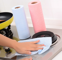 2 rolls  Environment Friendly Disposable Cloth Kitchen Cleaning Non-woven Fabric Dish Towel Cloth Kitchen Cleaning Tools