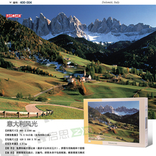 Tomax4000pcs jigsaw puzzle Neuschwanstein Tower Eiffel, Paris,Dolomiti, Italy The Great Wall of China
