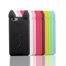 NEW Fashion 3D Cartoon Silicone Case for iPhone 4 4S 4G 4th Phone Soft Cover funda coque Good Quality(China)
