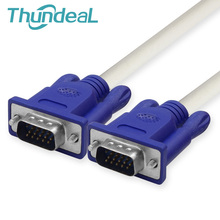 ThundeaL 15PIN 3+4 VGA Cable 1.5M 3M 5M Male To Male Double Ring Cable Extension for Monitor HD TV Box PC DVD Player Projector(China)