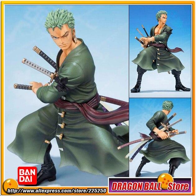 Japan Anime ONE PIECE (100% Original BANDAI) Tamashii Nations Figuarts Zero Figure - Roronoa Zoro (5th Anniversary Edition)<br>